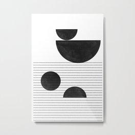 Black and White Balance Metal Print