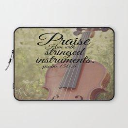Psalm 150:4 Praise Him Stringed Instruments Laptop Sleeve