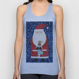 Santa with Stocking Unisex Tank Top