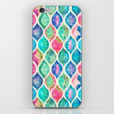 Watercolor Ogee Patchwork Pattern iPhone & iPod Skin