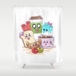 Kawaii Breakfast Shower Curtain