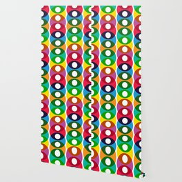 Geometric Pattern #64 (colorful bubbles) Wallpaper