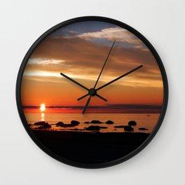 Cruising into the Sunset Wall Clock