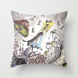 We're All Mad Throw Pillow