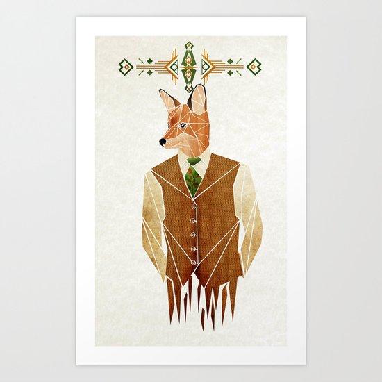 mister fox Art Print