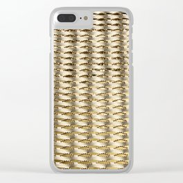 Water and iron Clear iPhone Case