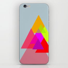 Triangles - Rouge color scheme iPhone Skin