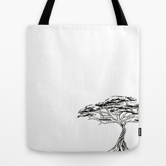 whistling thorn zen bonsai african tree tote bag by irenesillustrationgoodies society6