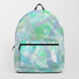 Abstract brush strokes texture Backpack