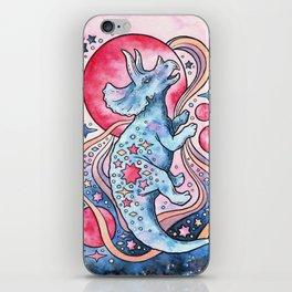 Star Tricera | Cosmic Dinosaur Watercolor iPhone Skin