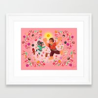 wreck it ralph Framed Art Prints featuring Sweet wall painting by princessbeautycase