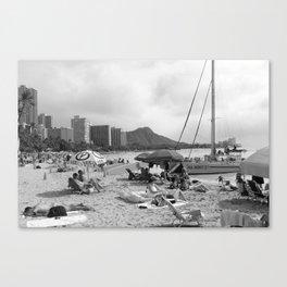 Wakiki Beach T-Shirt Canvas Print
