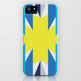 SUN_Yellow Star_Summer - Style Me Stripes iPhone Case