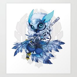 SnowOwl Ana Chibi Art Print