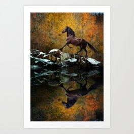Reflections of Fall Art Print