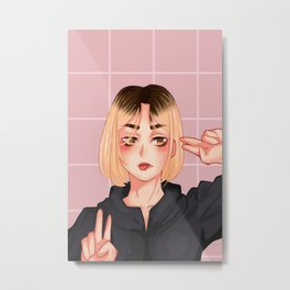 Kenma Haikyuu Metal Print