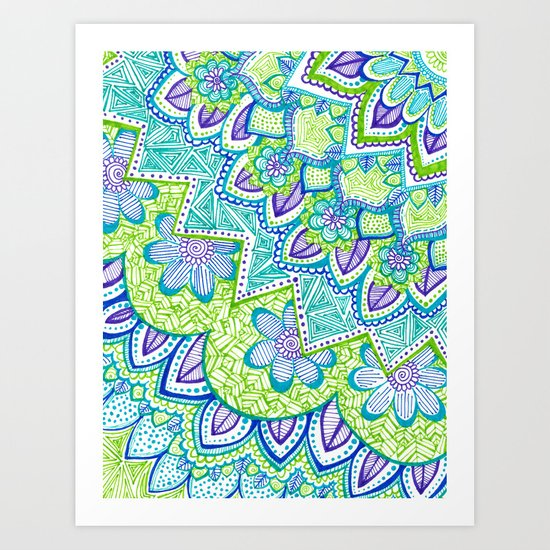 Sharpie Doodle 2 Art Print
