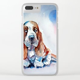 Basset hound puppy Clear iPhone Case