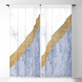 Marble luxe - periwinkle blue Blackout Curtain