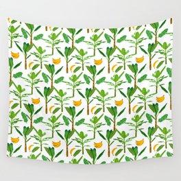 Banana Tree Plant Tropical Fruit Healthy Food  Wall Tapestry