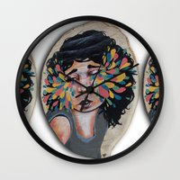 snatch Wall Clocks featuring I See In Color by Ben Geiger