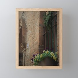 Christmas Window Ferrara Italy Framed Mini Art Print