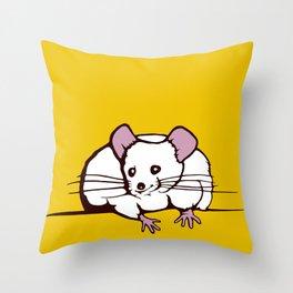 Fat mouse Throw Pillow
