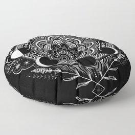 Moon Mandala Floor Pillow