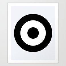 Black & White Mod Target Art Print