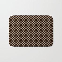 Black and Butterum Polka Dots Bath Mat