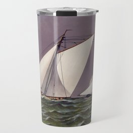 Race for America's Cup by the Puritan and Genesta - 1885 Travel Mug