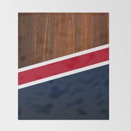 Wooden New England Throw Blanket