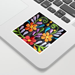 Mexican Flowers Sticker
