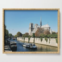 Seine River at Notre-Dame Serving Tray