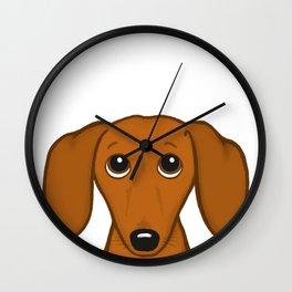 Shorthaired Dachshund Cartoon Dog Wall Clock