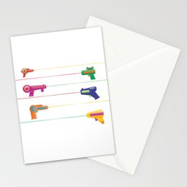 Pew Pew Laser Guns Stationery Cards