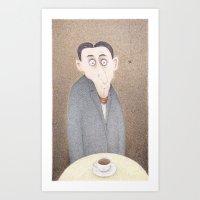 kafka Art Prints featuring Cafe Kafka  by Steve Bonello