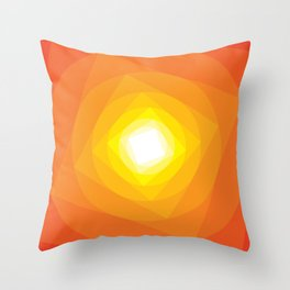 Gradient Sun Throw Pillow