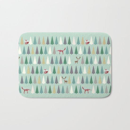Forest Animals Bath Mat