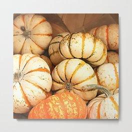 Happy Halloween Pumpkins Metal Print