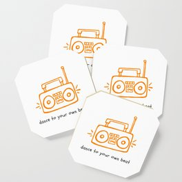 Dance to your Own Beat Boom Box Coaster
