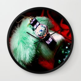 Time For Red And Green Stuff Wall Clock