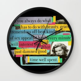 Katharine Hepburn Said These Words (Just Not in This Order) Wall Clock