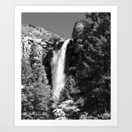 Thundering Waters Of Bridal Veil Falls  Art Print