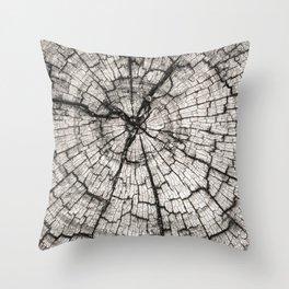 circles in the wood grain Throw Pillow