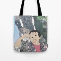 murakami Tote Bags featuring HARUKI MURAKAMI by Lucas Eme A