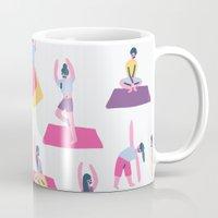 yoga Mugs featuring Yoga by Sara Maese