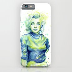 Marilyn Portrait Watercolor Painting iPhone 6s Slim Case