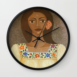 More than flowers she sells illusions Wall Clock
