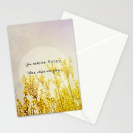 You Make Me Happy When Skies Are Gray Stationery Cards